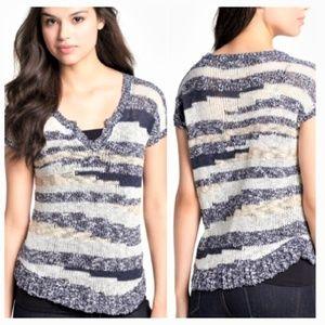 Lucky Brand bernice space dye sweater top medium